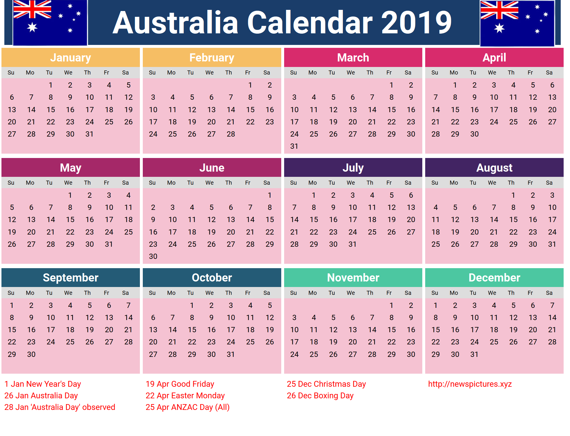 united kingdom 2019 holidays calendar