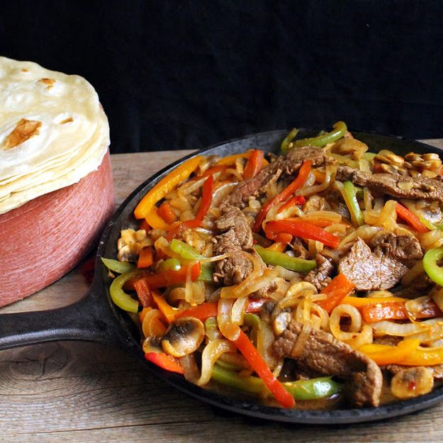 Flank Steak Fajitas  From: 30 Delicious Things To Cook In June