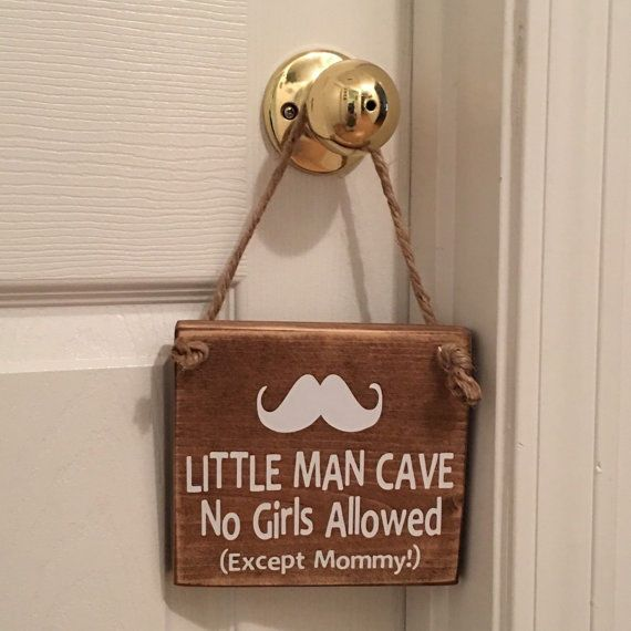 Details About Little Man Cave Mustache Wooden Nursery Boy S Room Door Sign Wooden Door Signs Bedroom Door Decorations Kids Door Signs