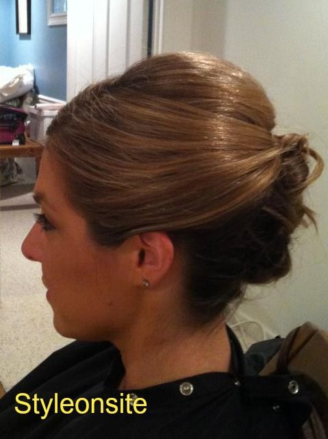 sleek updo, wedding hair, special event, prom, bride, bridesmaid