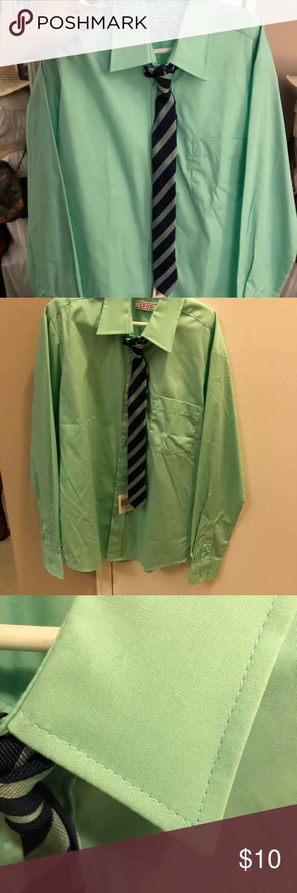 Boys Dress Shirt Mint Green Size 12 Boys Shirts Tops Button Down