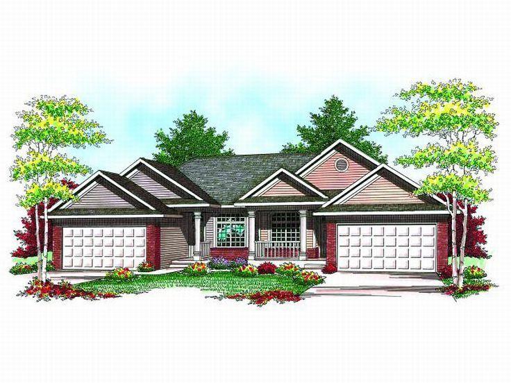 2 bed 2 bath basement each Duplex House Plan 020M0053 – Duplex Plans With Garage And Basement