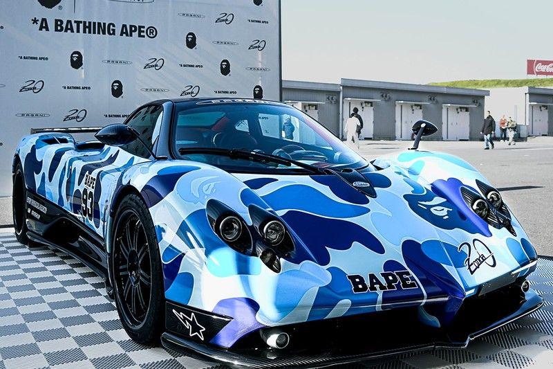 Bape Pagani Hit Suzuka Circuit To Celebrate The 20th Anniversary Of The Zonda Pagani Suzuka Sports Car