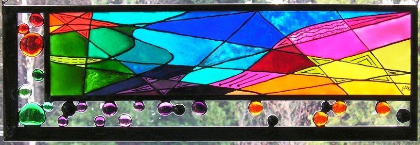 Pluie d\u0027étoiles / stars shower Peinture sur verre / Glass painting