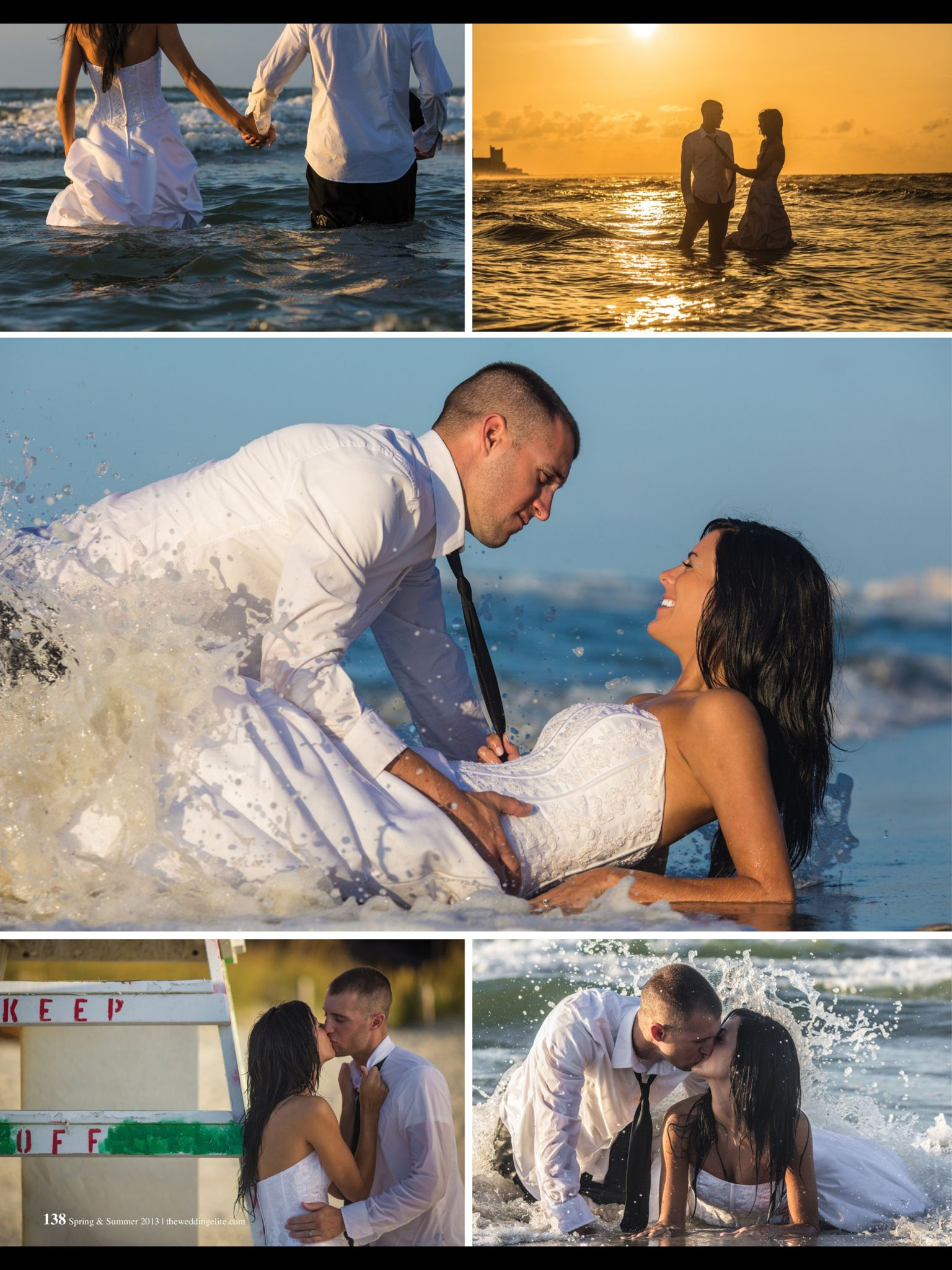 Trash the dress-did this for our wedding. very playful