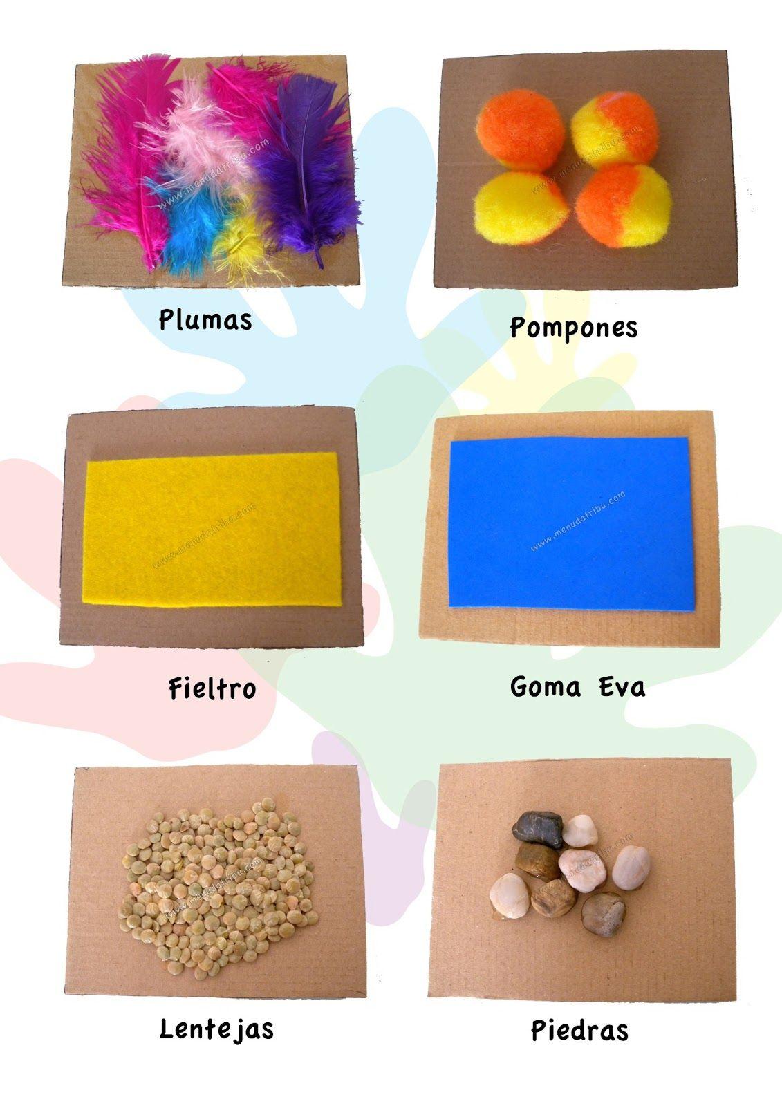 Sentido Del Tacto Para Preescolar Texturas Buscar Con Google Texturas Para Niños Actividades Táctiles Juegos Sensoriales Para Niños