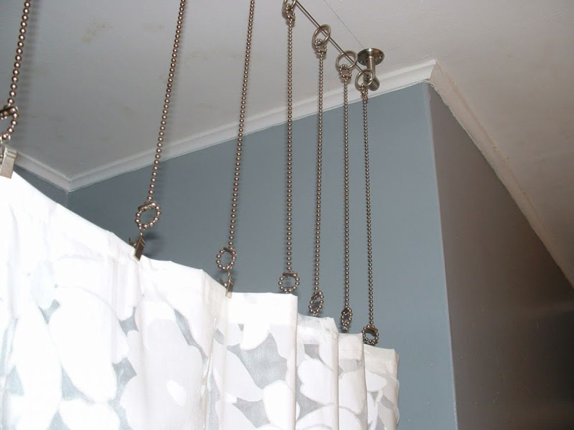 extra long shower curtain hooks style
