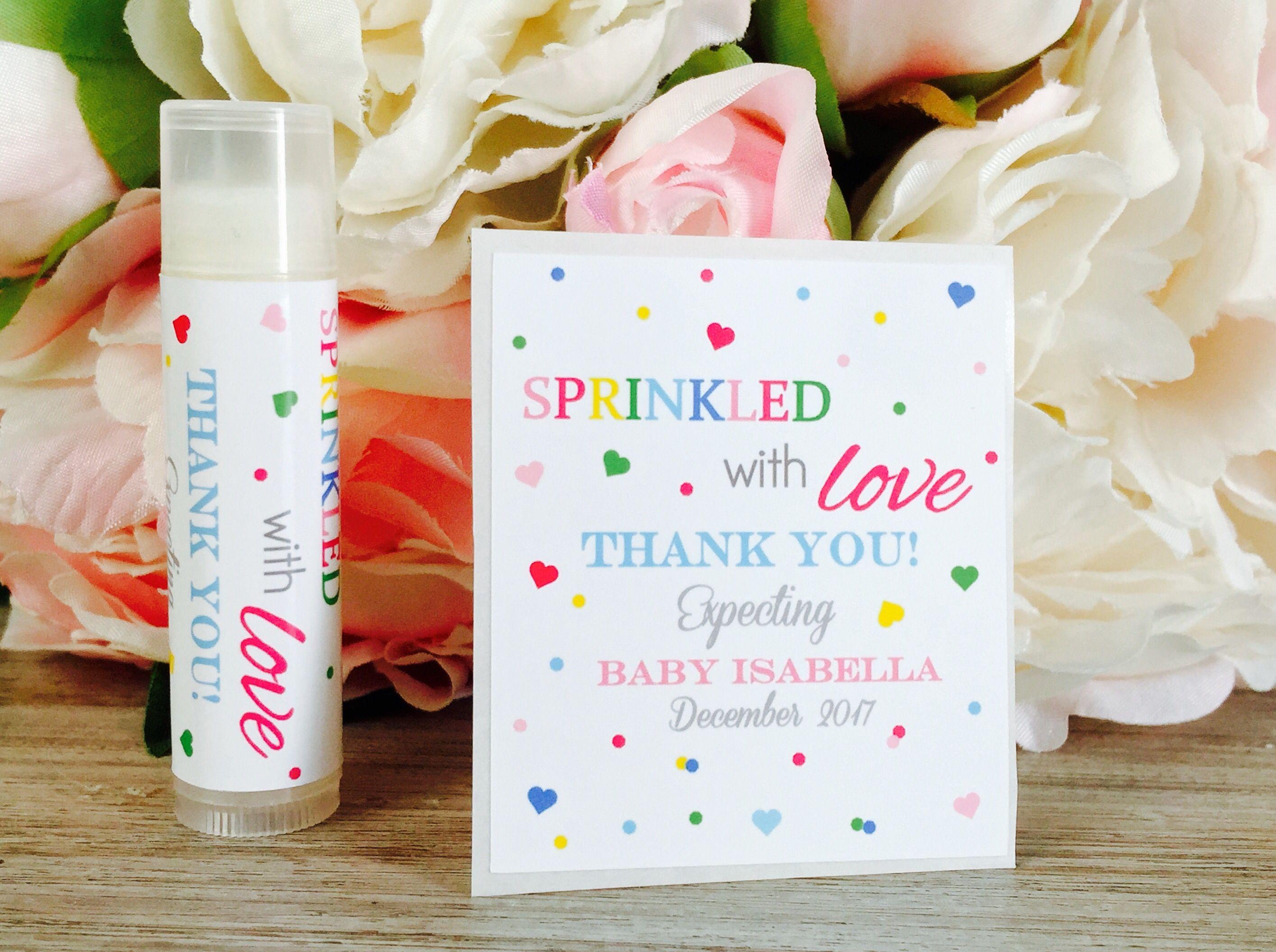 Sprinkled with love baby shower favor label, Baby sprinkle favor ...