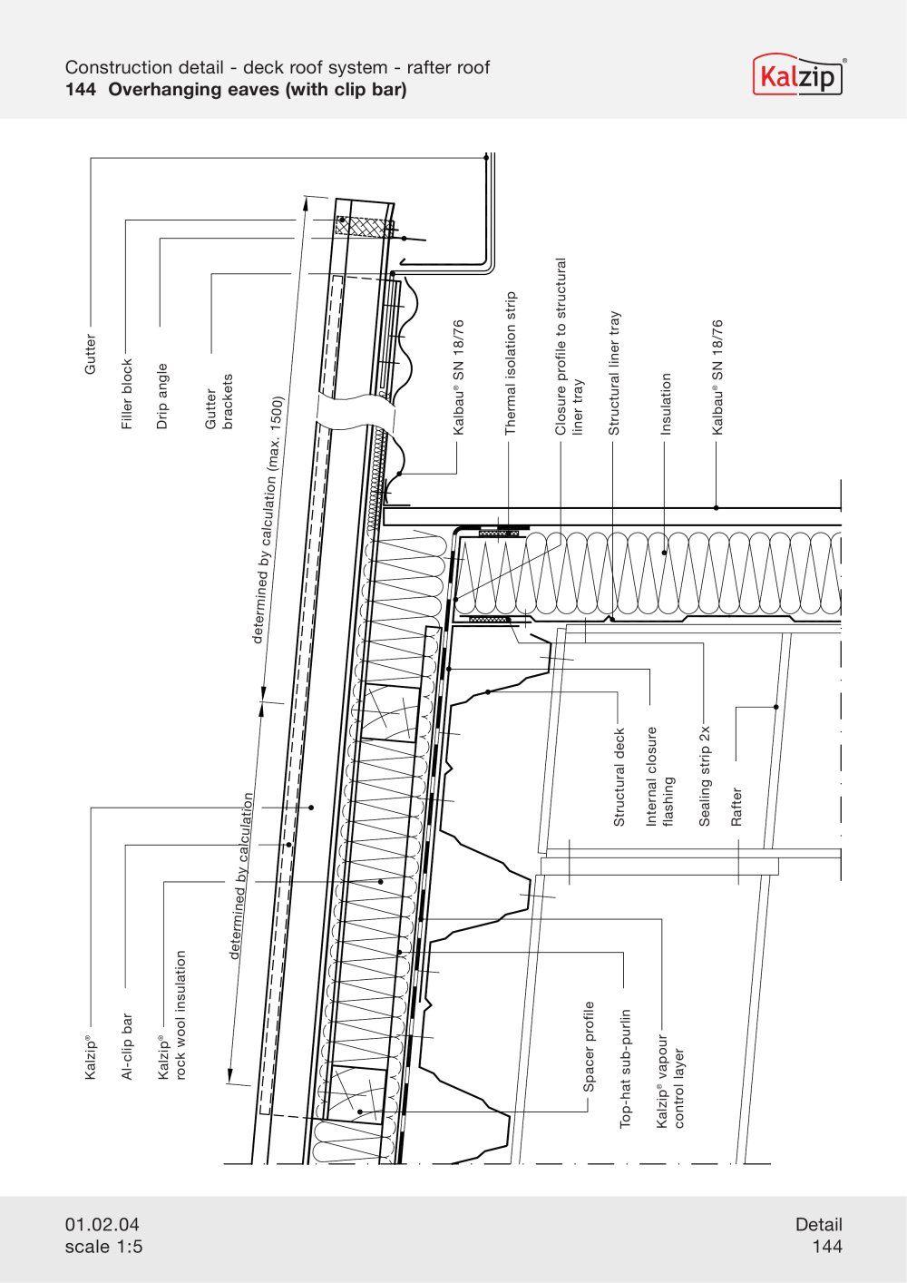Kalzip Construction Details Archiexpo Grundriss Katalog Architektur