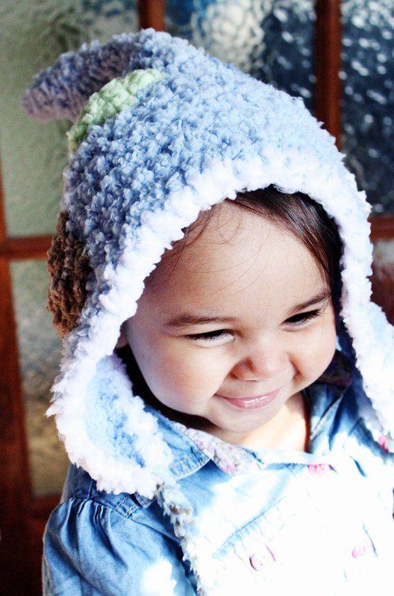 32346d0e7d8 3 to 6m Blue Pixie Elf Hat Baby Bonnet Blue Earflap Hat Baby Boy Hat Blue  White Brown Lime Infant Ha