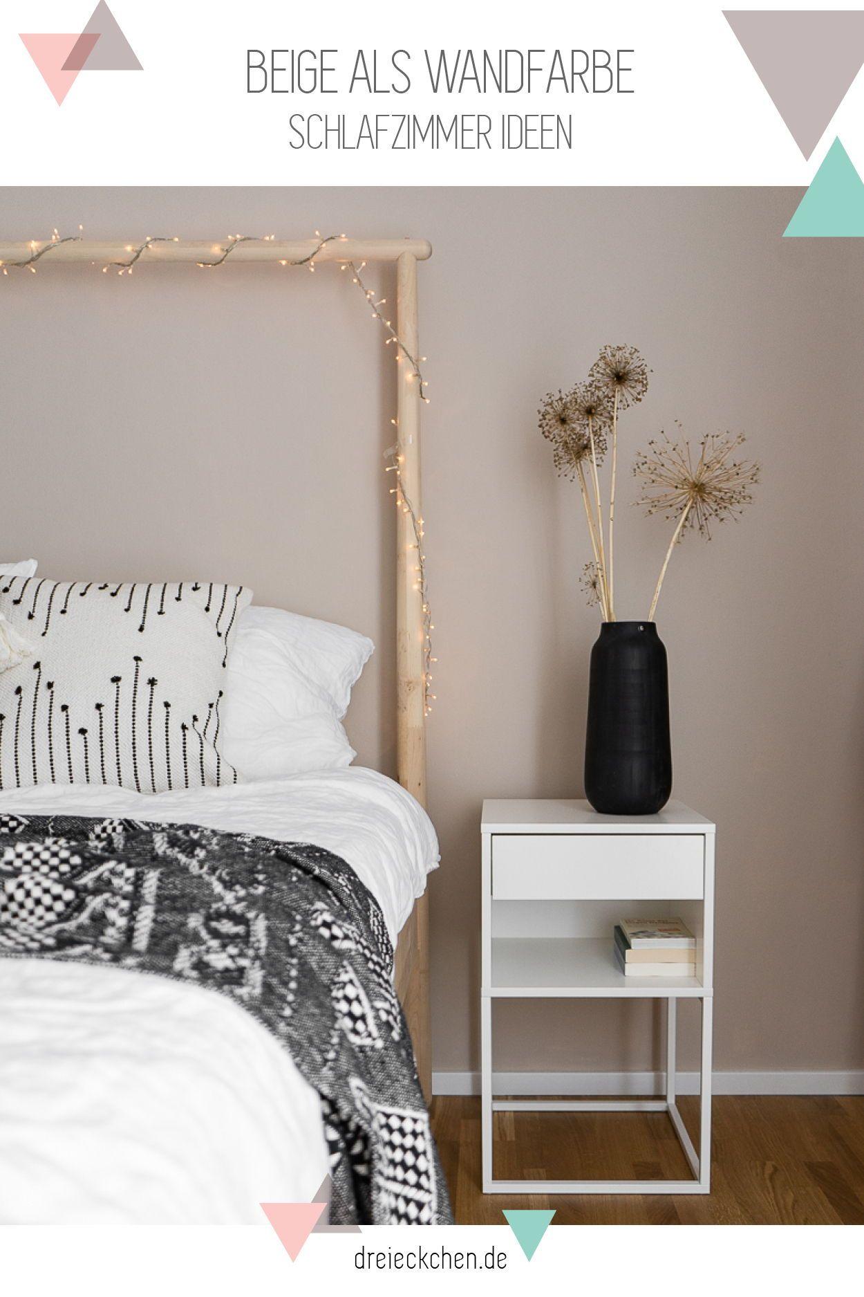 Beige als Wandfarbe Schlafzimmer Ideen im Boho Stil