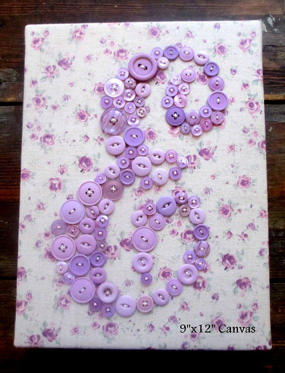 Vivero arte de la pared botón lavanda por letterperfectdesigns ...