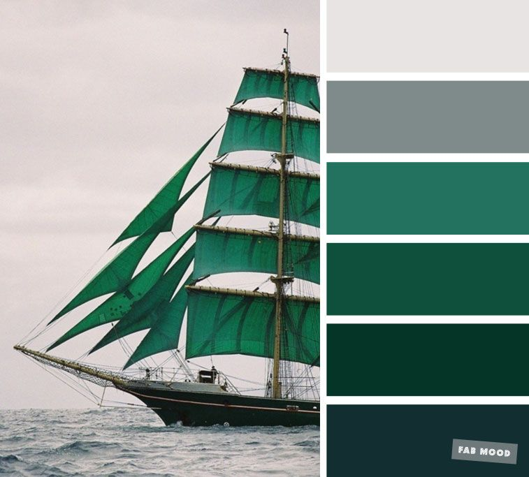 Emerald green and grey sea smoke color scheme images