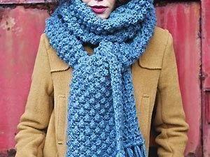 apprendre a tricoter une echarpe grosse maille | Echarpe ...