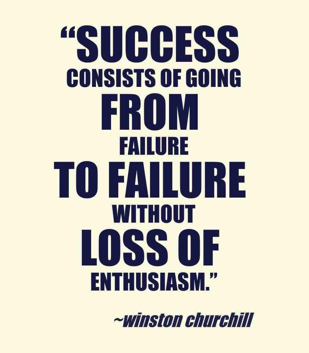 Inspirational Quotes For Students In College Success Consists Of Going From Failure To Failure Without Loss Of