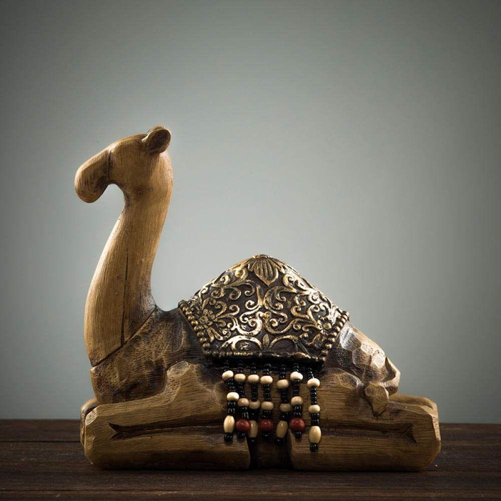 Kreative Holzschnitzerei Kamel Arabischen Stil Holzschnitzerei Schnitzerei Statue