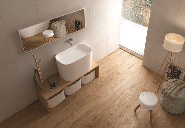 Bagno con pavimento effetto legno cerca con google project home pinterest - Pavimento e rivestimento bagno uguale ...