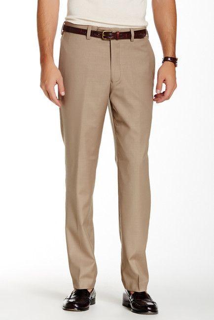 483931c421c579 Louis Raphael Solid Stretch Dress Slim Fit Pants - 30-34\\ Inseam ...