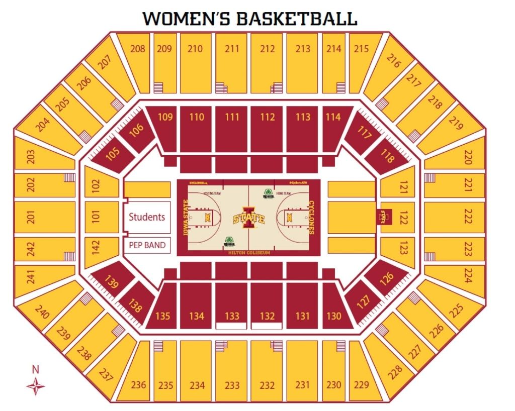 The Stylish And Also Beautiful Hilton Coliseum Seating Chart Di 2020
