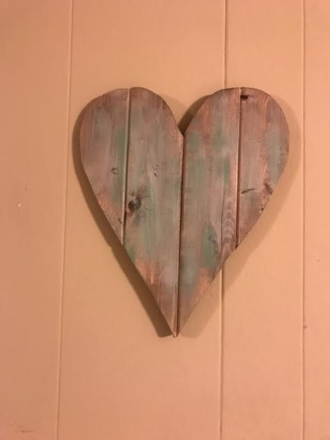 Rustic Heart Shaped Cutout Sign Wooden Wall By Capefearcurbside Add This Rustic Heart Shaped Cutout Wooden Sign To Your Home This Wall Art Uses Corazones Alas