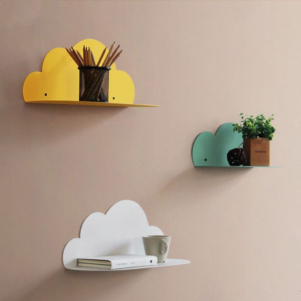 Metal Cloud Wall Shelf Wall Shelves Metal Wall Shelves Shelves
