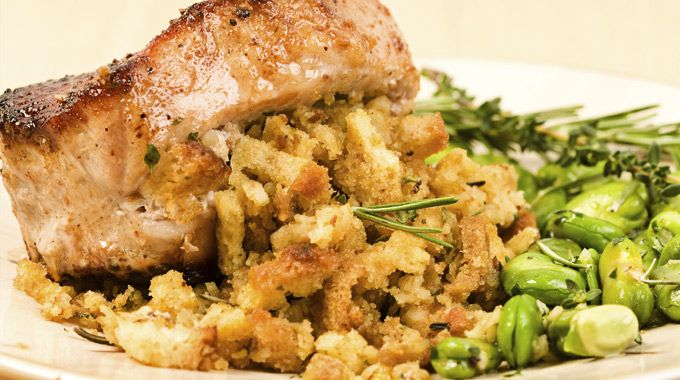 Sausage and Cheese Stuffed Pork Chops  - Traeger Grill Recipes