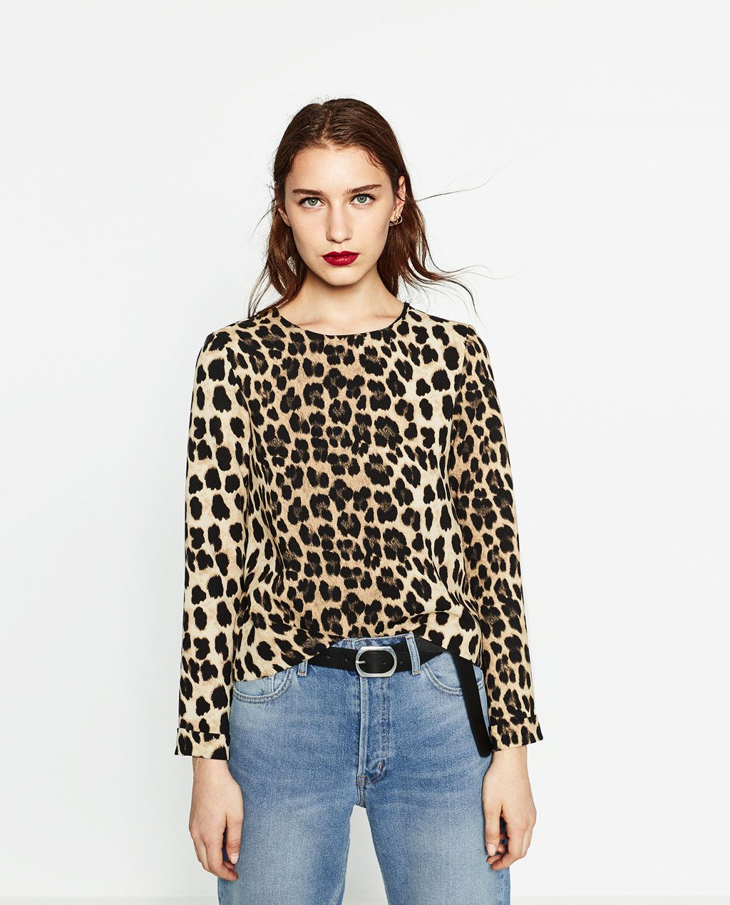 8b5c99d0e56d ANIMAL PRINT TOP-Blouses-TOPS-WOMAN | ZARA United States | Fashion ...