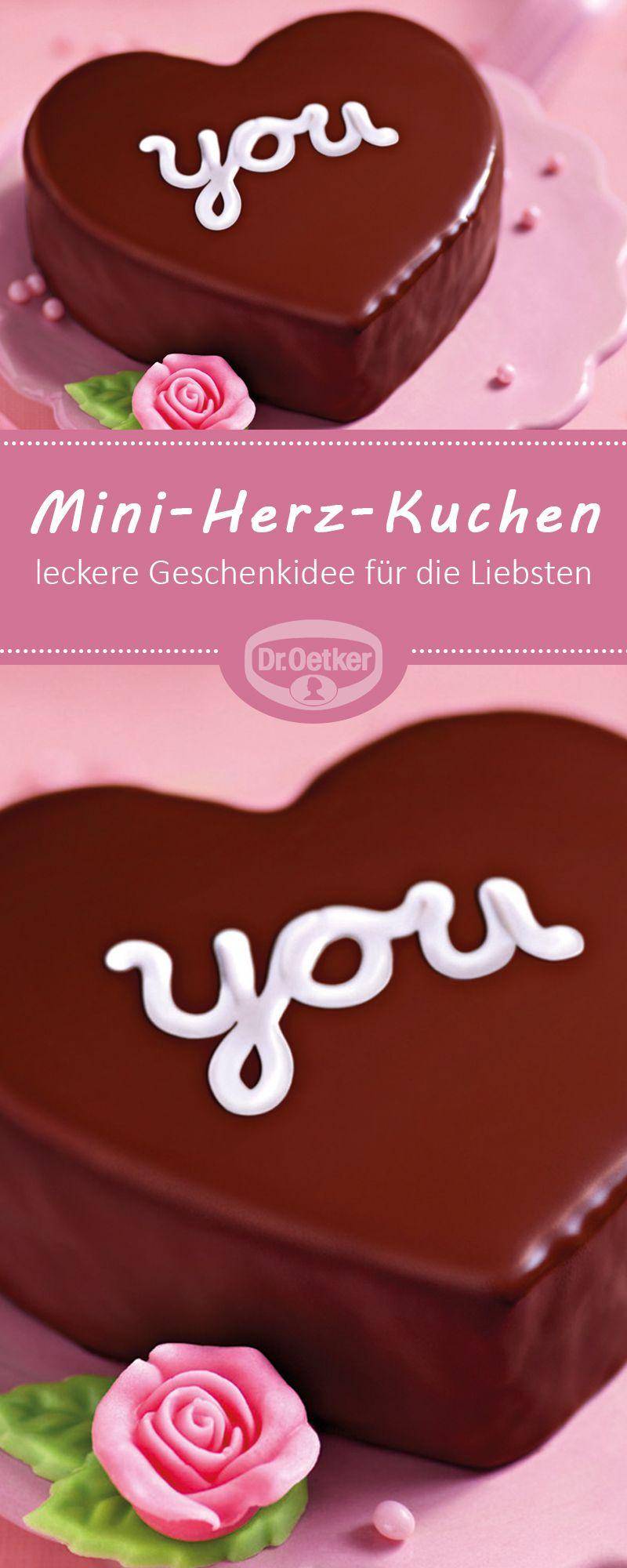 Mini-Herz-Kuchen | Rezept in 2020 | Herzkuchen, Kuchen ...