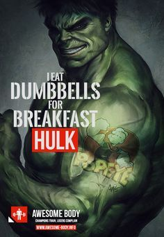 Hulk Quotes Hulk Motivational Quotes  I Eat Dumbbells For Breakfest  Cool