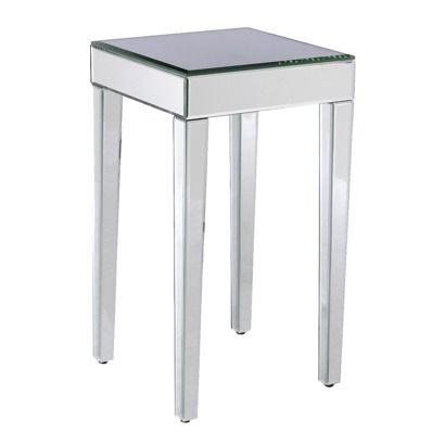 Target Mirrored Side Table Good As A Nightstand In Small E