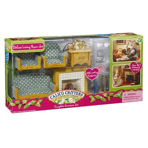 Deluxe Living Room Set Games Puzzles Toys PLAYSETS FIGURES ACCESSORIES Playsets Figures Standard Calico Critters