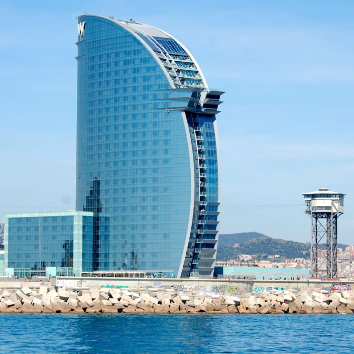 w barcelona  popularly known as the hotel vela