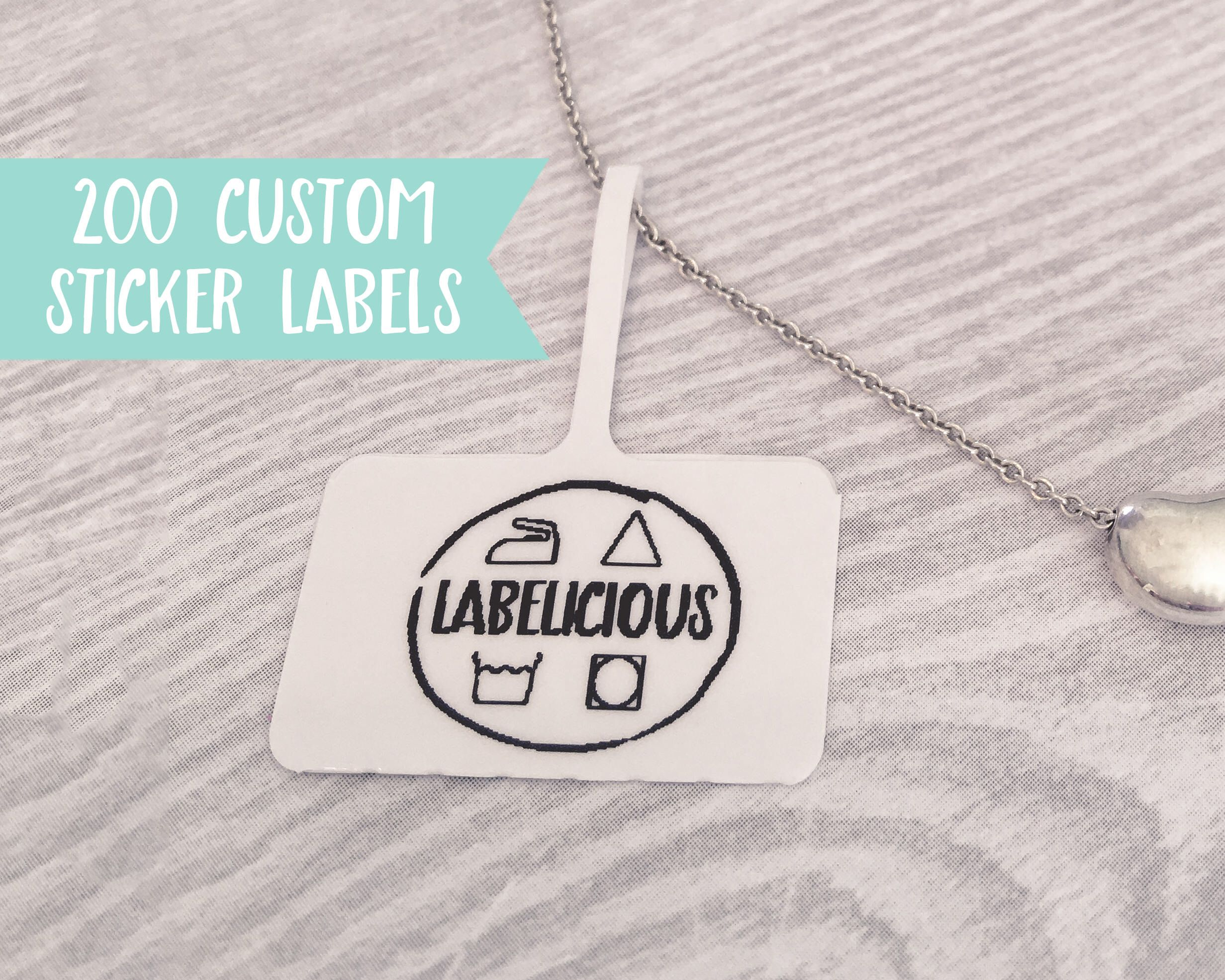 Qty 200 custom jewellery tag small custom label custom price tag custom