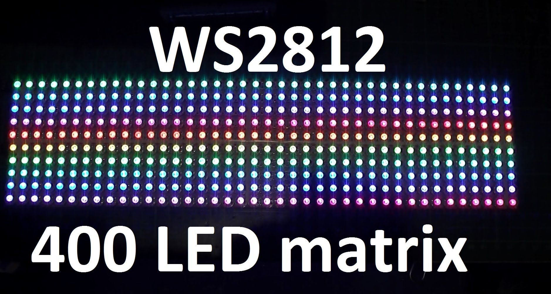 Arduino & 400 Neopixel WS2812 RGB LED matrix project | Jercio LED in