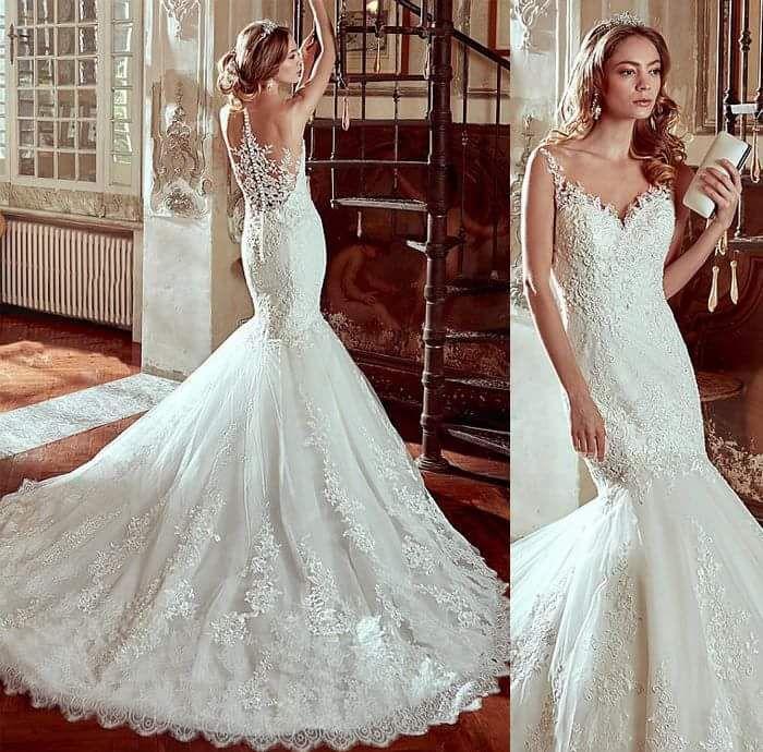 59+ Stunning Mermaid Wedding Dresses To Show Off Your Body   Mermaid ...