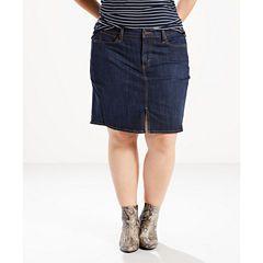 c4ceddd5a Levi's Denim Skirt-Plus   Amy Clothes   Denim skirt, Denim skirt ...