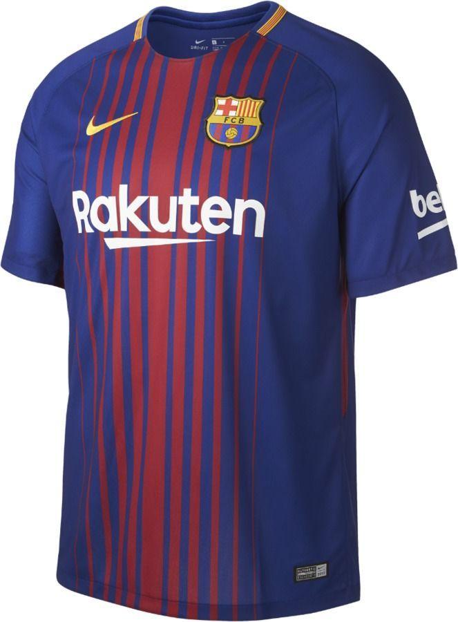 32a1af9d3 Nike 2017 18 FC Barcelona Stadium Home Men s Soccer Jersey ...