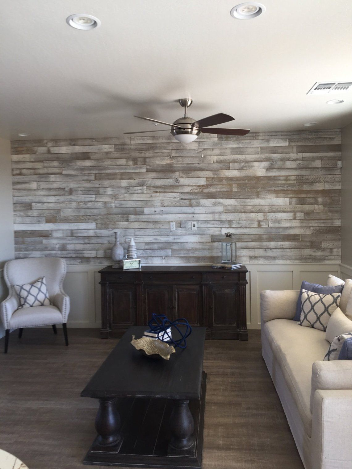 Reclaimed Wood Wall Paneling (White Washed) 1 Sqft In 2019