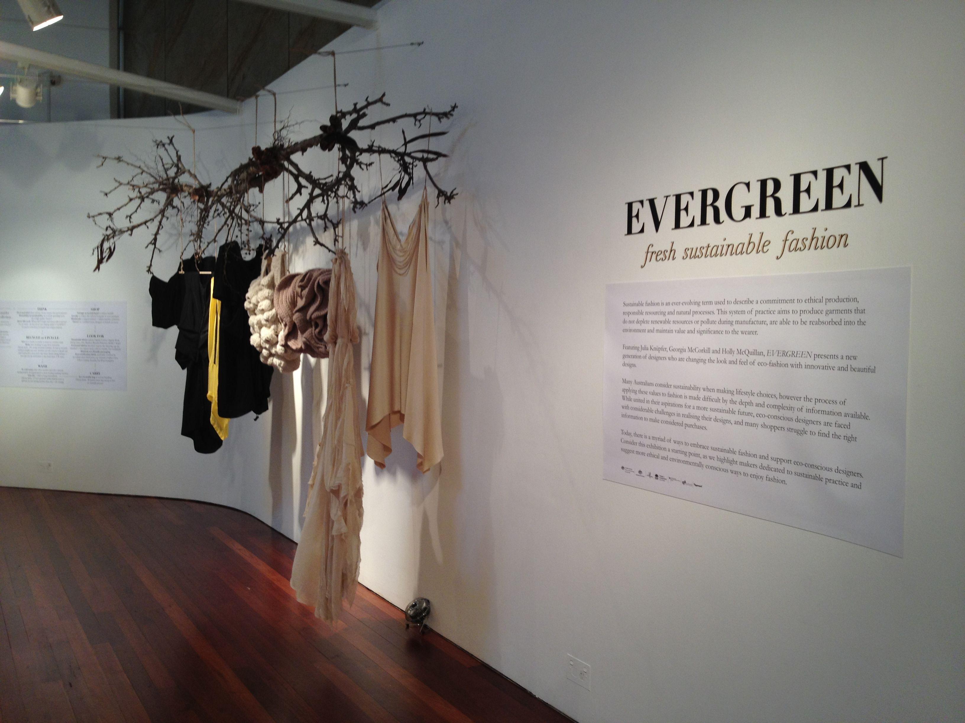 evergreen sustainable fashion exhibition    object