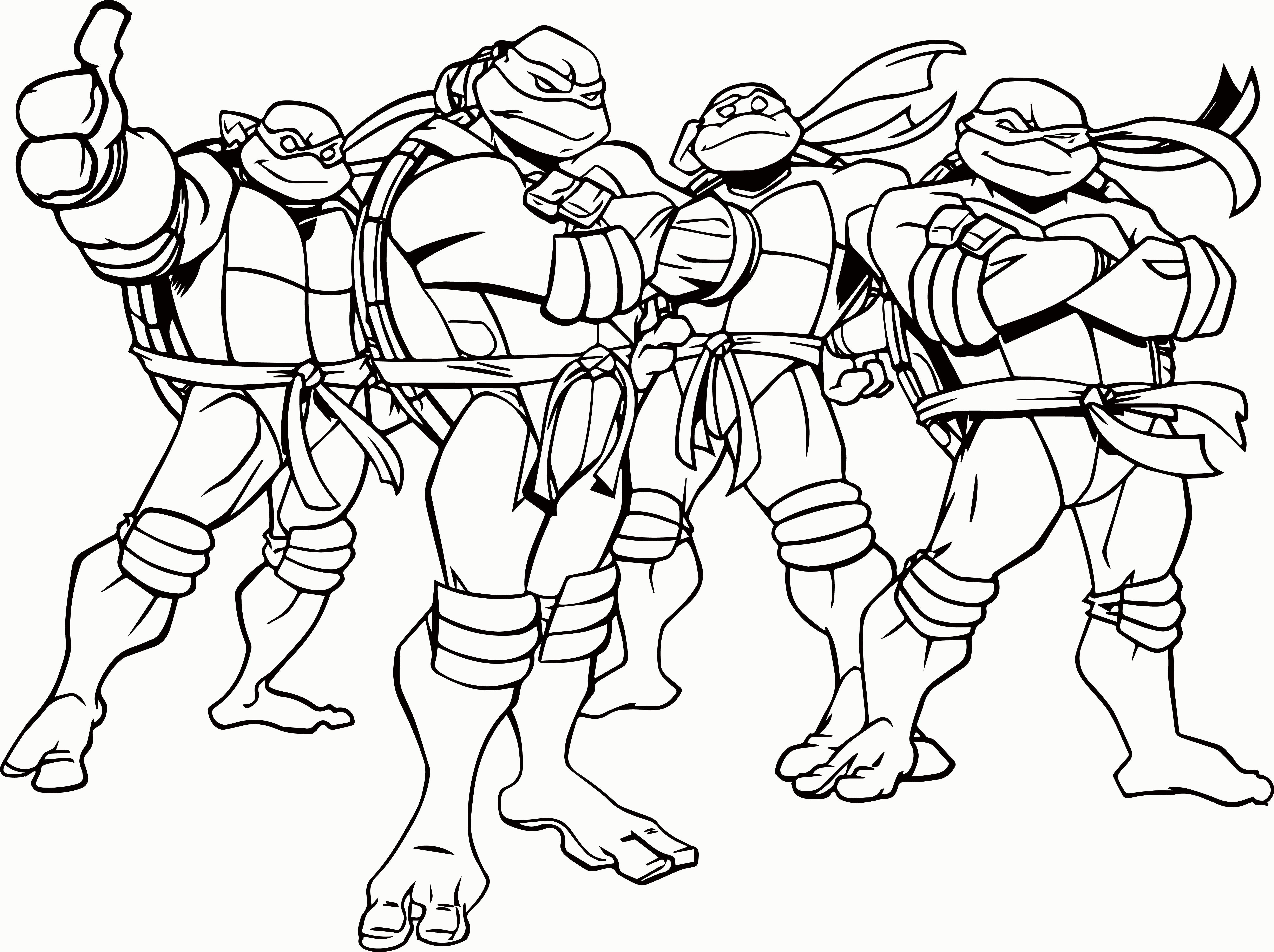 Teenage Mutant Ninja Turtles Coloring Page Lovely