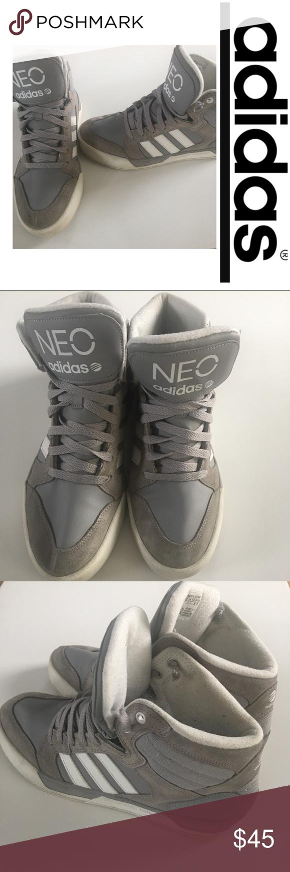 Adidas Stripe neo High Top gris y blanco Stripe Adidas adidas neo High Tops dbee1d