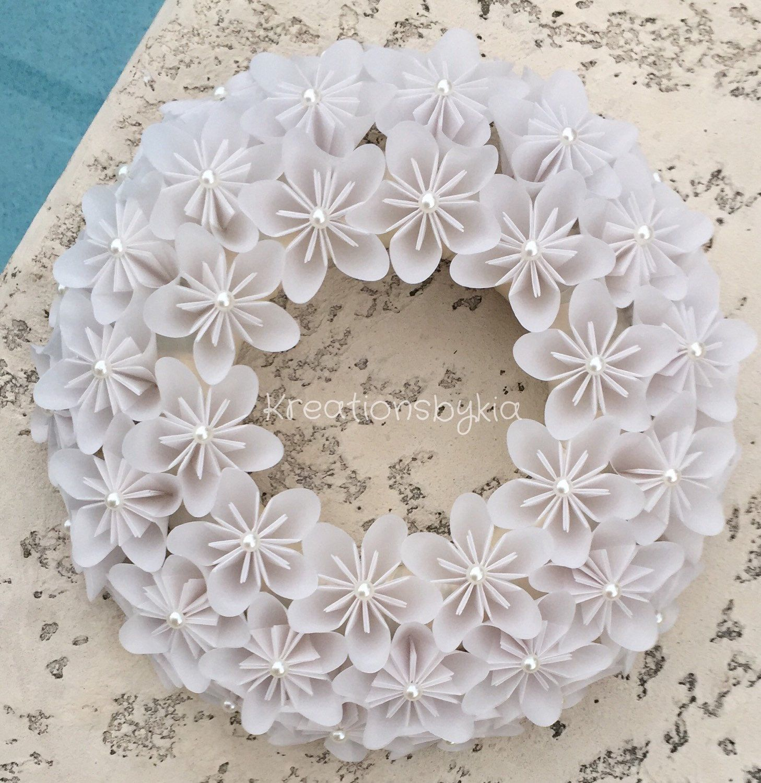 Origami Paper Flower Wreath Wedding Decorations Origami