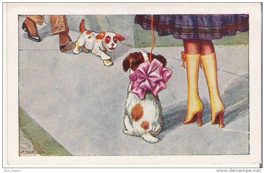 PC illustrator - AURELIO BERTIGLIA - dogs, les chiens, Hunde,mode,fashion, romance, Romantik