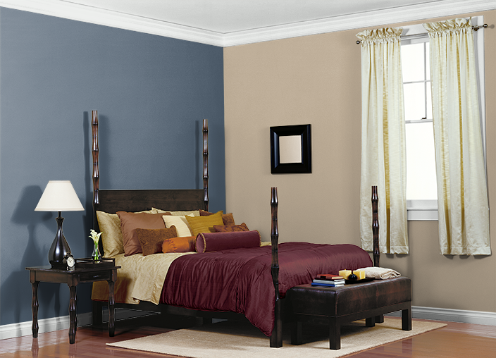This Is The Project I Created On Behr Com I Used These Colors Gobi Desert 710c 3 Midnight Show T17 17 Mountain Elk 740 Guest Bedroom Room Colors Room Paint