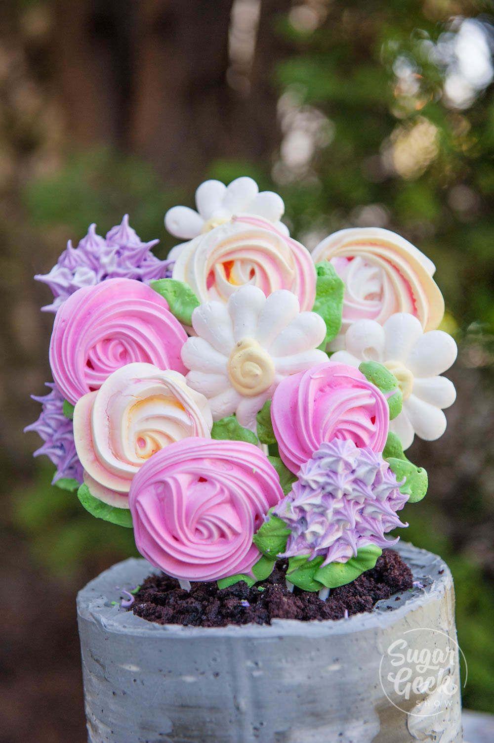 Meringue Pop Flower Pot Cake Recipes Recipe Flower pot
