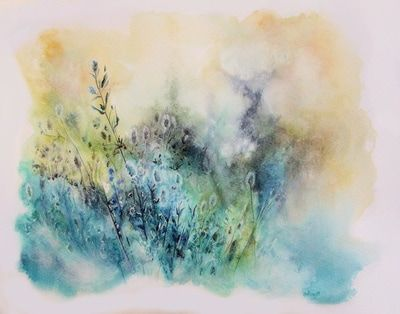 """""""Joyful chaos"""", watercolor, ink and gesso, 12x 10 inches Alexandra Serres (AlexS)"""