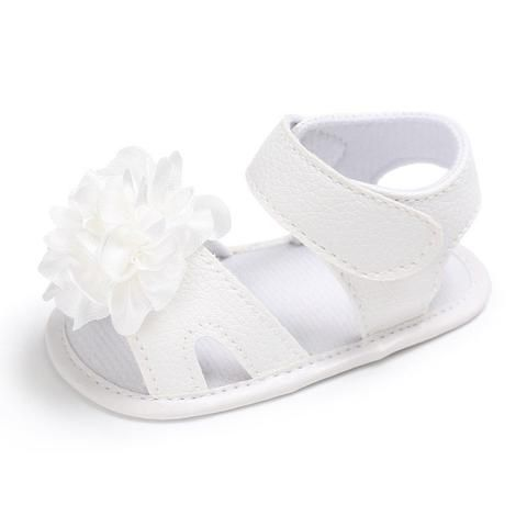 70973c25f16 Raise Young Summer PU Leather Baby Girl Sandals Soft Soles Flower Solid Toddler  Girl Shoes Newborn Infant Footwear 0-18M