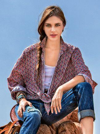 120B Hemdbluse Gr. 36-44 Burda 10/2016   Sew: Burda - Blusen   Pinterest