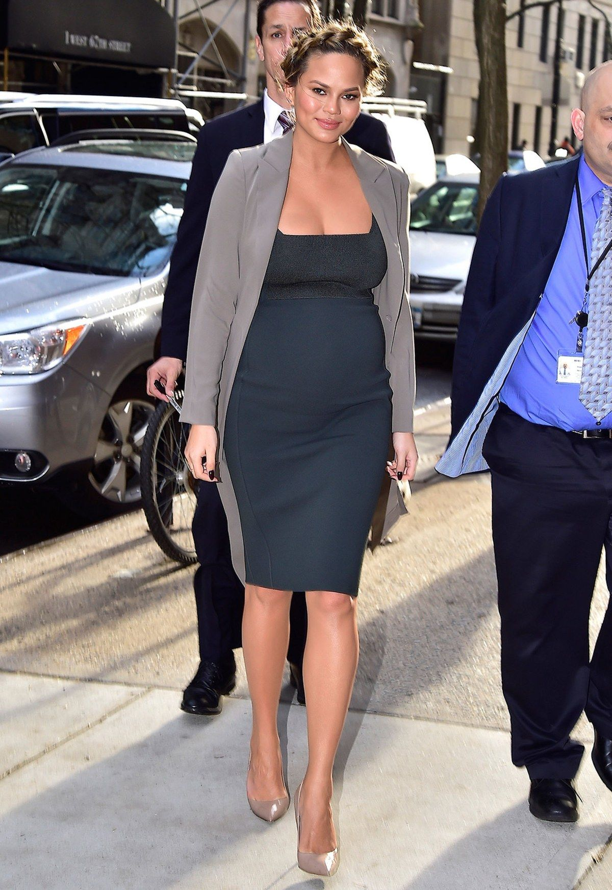 45b29c2e2a Chrissy Teigen Maternity Style  The Star Wore 4 Outfits in a Single Day