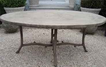 Oval Faux Bois Dining Table Designed By Colvin And Hastings Designs Photo Mecox Gardens Faux Bois Google Faux Bois Concrete Diy Faux Bois Garden Bench Diy